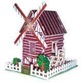 Dřevěné skládačky 3D puzzle slavné budovy Větrný mlýn PHC006