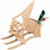 Woodcraft Dřevěné 3D puzzle stojánek na tužky surfing