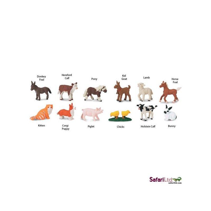Dřevěné hračky Safari Ltd - Tuba - Mláďata z Farmy