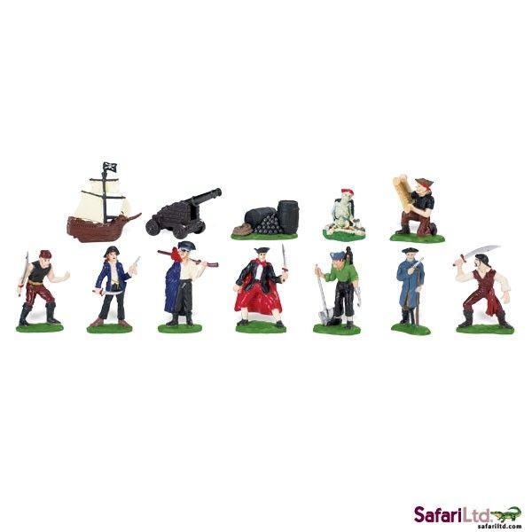Dřevěné hračky Safari Ltd - Tuba - Piráti