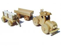 Ceeda Cavity - dřevěné auto - Traktor s vlečkou - velký