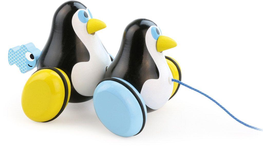 Dřevěné hračky Vilac Tahací tučňáci Hans & Knut