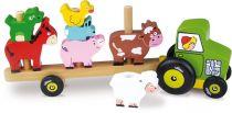 Dřevěné hračky Vilac Nasazovačka traktor se zvířátky