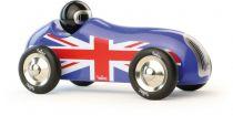 Vilac - Designové dřevěné historické závodní auto modré