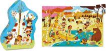 Vilac - Dřevěné puzzle Indiáni 150 dílků