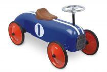 Vilac - Kovové odrážedlo - Historické závodní auto - modré