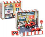 Zábavná hračka Vilac - Box s auty - Hasiči