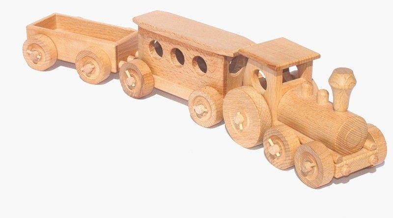 Dřevěné hračky Ceeda Cavity - přírodní dřevěný vláček - Osobní vlak