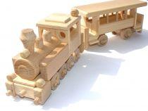 Ceeda Cavity - přírodní dřevěný vláček - Úzkokolejka