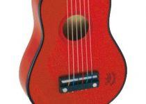 Dřevěné hračky Vilac Kytara akustická červená