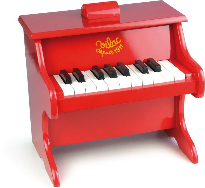 Dřevěné hračky Vilac Klavír červený