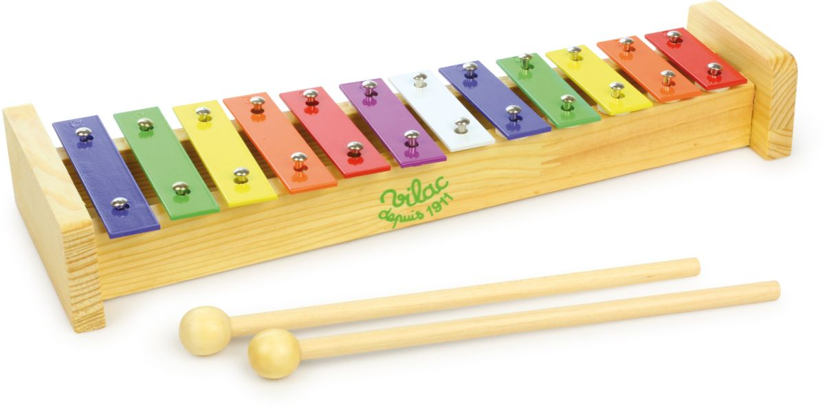 Dřevěné hračky Vilac Kovový xylofón
