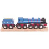Dřevěné hračky Bigjigs Rall Dřevěná replika lokomotivy LMR Gordon + 3 koleje Bigjigs Rail