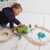 Dřevěné hračky Bigjigs Rail Dřevěná vláčkodráha farma