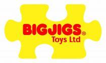 Dřevěné hračky Bigjigs Rail Zelená lokomotiva s tendrem + 3 koleje