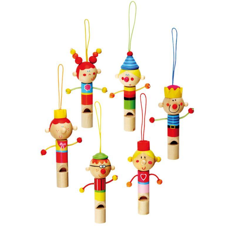 Dřevěné hračky Bino Hudební nástroje dřevěná píšťalka