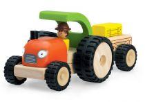 Dřevěné hračky - Dřevěný Mini Traktor