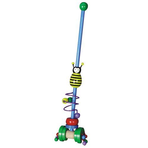 Dřevěné hračky Dřevěné hračky - Tahací hračky - Jezdík včela HJ Toys