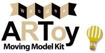 Dřevěné hračky ARToy Stavebnice pohyblivého modelu okolo světa auto