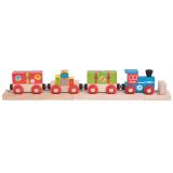 Bigjigs Rail dřevěná vláčkodráha - Airport expres + 3 koleje