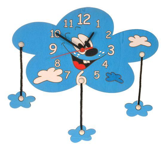 Dřevěné hračky DoDo Dětské dřevěné hodiny mrak s mráčky