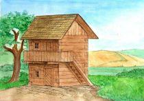 Dřevěné hračky Dřevěná stavebnice Walachia Špýchar