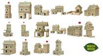 Dřevěné hračky Dřevěná stavebnice Walachia Vario Massive