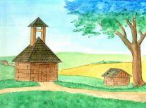 Zvonice a studna