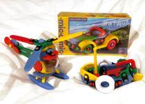 Dřevěné hračky Mic-o-mic - Stavebnice - Nákladní auto tříkolka