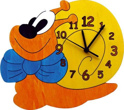 Dřevěné hodiny - Šnek