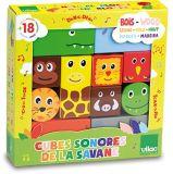 Dřevěné hračky Vilac Dřevěné zvukové kostky Savana