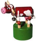 Dřevěné hračky -  dekorace - Mačkací figurka Kráva
