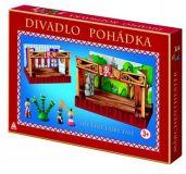 Dřevěné hračky Detoa Dřevěné dětské divadlo Pohádka
