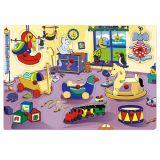 Dřevěné vkládací puzzle dětský pokojíček
