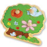 Dřevěné vkládací puzzle strom