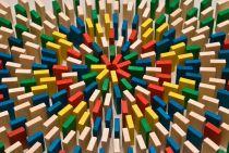 Dřevěné hry - Dřevěné domino v tubě - 430 ks