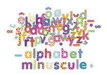Dřevěné hračky Vilac Dřevěné magnetky psací abeceda 81ks