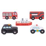 Bigjigs Rail příslušenství vláčkodráhy - Městské auta