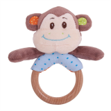Bigjigs Baby Chrastítko kroužek opička Cheeky