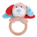 Bigjigs Baby Chrastítko kroužek pejsek Bruno