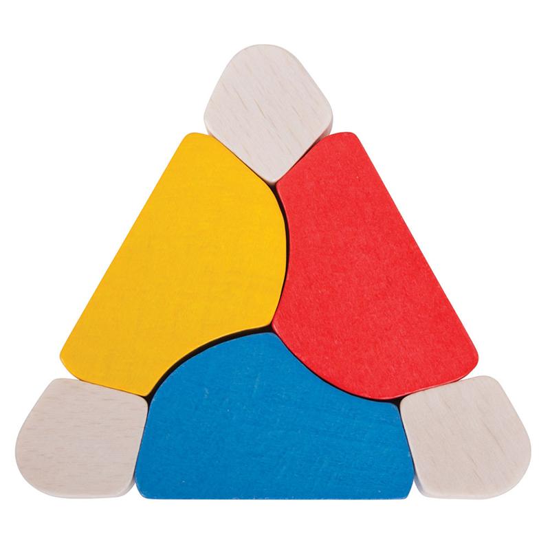 Dřevěné hračky Bigjigs Baby Triangl twister Bigjigs Toys