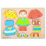 Bigjigs Baby Oblékací puzzle kluk