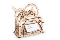Ugears Dřevěná stavebnice 3D mechanické Puzzle - Box na vizitky