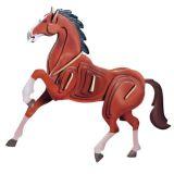 Dřevěné 3D puzzle dřevěná skládačka zvířata - Kůň EC023