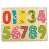 Bino Dřevěné hračky počítání puzzle číslice