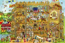 Dřevěné hračky - Puzzle hrad 24 dílků
