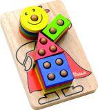 Dřevěné hračky - Skládací klaun na tyčkách