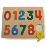 Dřevěné hračky - Vkládací puzzle - Vkládačka - Číslice