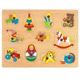 Dřevěné vkládací puzzle hračky B