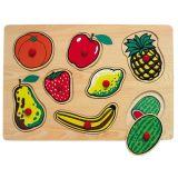 Dřevěné vkládací puzzle ovoce 2